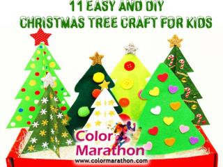 11 Easy and DIY Christmas Tree Craft for Kids