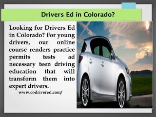 Drivers Ed in Colorado?