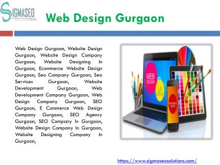 Website Design Company  In Gurgaon, Delhi| Sigma Seo Solutions