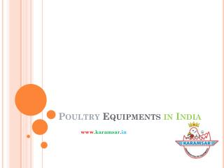 Poultry Equipments in India