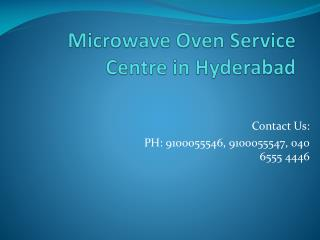 Microwave Oven Service Centre in Hyderabad
