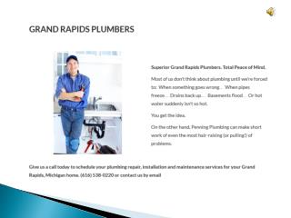 Plumbers in Grand Rapids MI