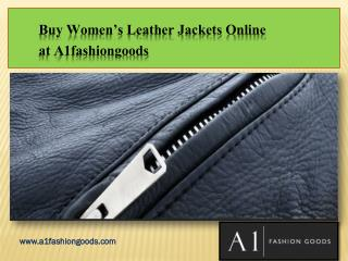 Buy Leather Coats for Ladies Online from A1fashiongoods
