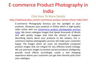 E-commerce Product Photography in India