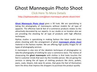 Ghost mannequin photo shoot