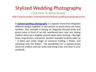 stylized wedding photography