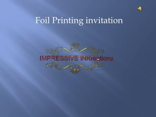 foil printing invitations