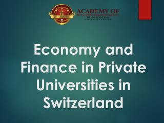 Economy and Finance in Private Universities in Switzerland