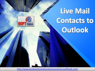Live Mail Contacts to Outlook