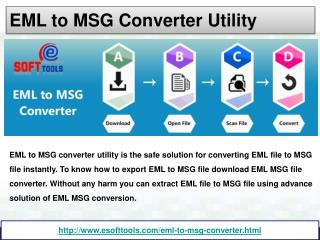 EML to MSG Converter utility