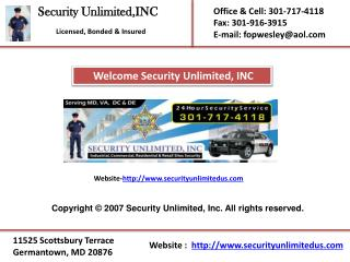 Special event security Virginia