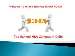 Mba colleges in delhi - Hirank Business school