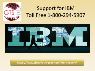 Support for IBM Toll Free 1-800-294-5907