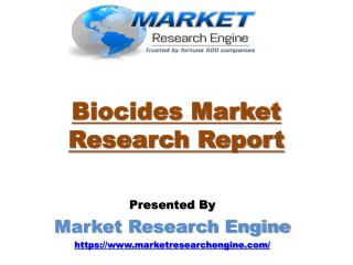 Biocides Market to Cross US$ 11.5 Billion by 2022