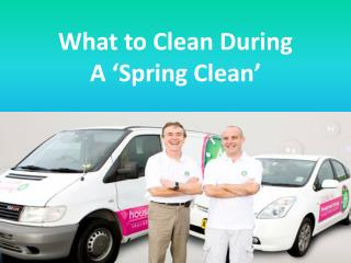 What to Clean During A 'Spring Clean'