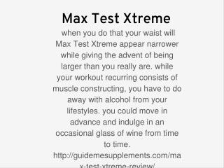 Max Test Xtreme