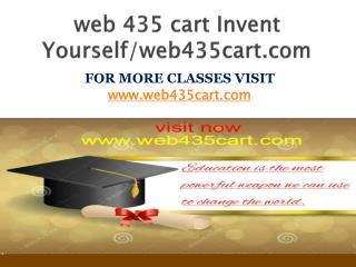 web 435 cart Invent Yourself/web435cart.com