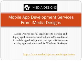 iMedia Designs - Mobile App Development Services Toronto