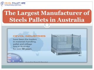 The Largest Manufacturer of Steels Pallets in Australia