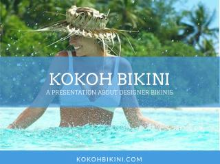 Australian Swimwear from KOKOH Bikini
