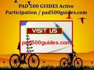 PAD 500 GUIDES Active Participation / pad500guides.com