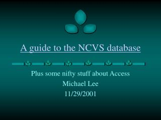 A guide to the NCVS database