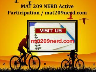 MAT 209 NERD Active Participation / mat209nerd.com