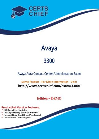 3300 Certification Study Guide