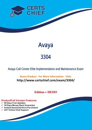 3304 Certification Study Guide