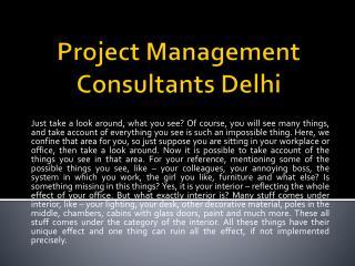 Project management Consultants Delhi