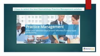 Dermatology Practice Management
