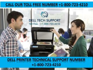 Dell Printer Technical Support  Number  1-800-723-4210 USA