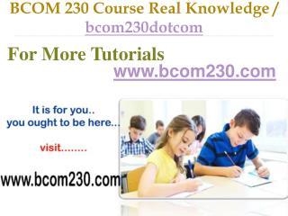 BCOM 230 Course Success Begins / bcom230dotcom