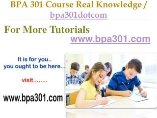BPA 301 Course Success Begins / bpa301dotcom