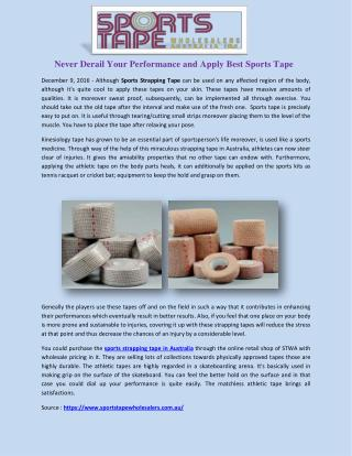 Sports Strapping Tape