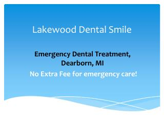 Emergency Dentist Dearborn, Mi