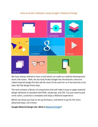 How to Build a Website using Google's Material Design