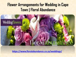 Flower Arrangements for Wedding in Cape Town | Floral Abundance