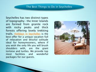 The Best Things to Do in Seychelles