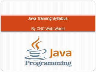 Java Training Syllabus