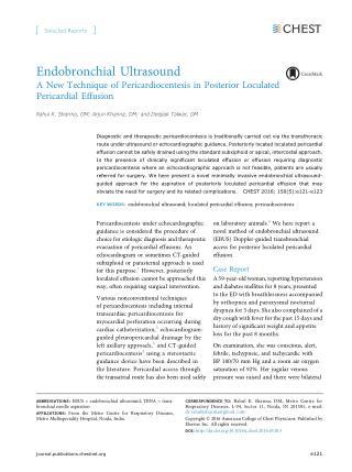 Endobronchial Ultrasound - dr deepak talwar best pulmonologist in India