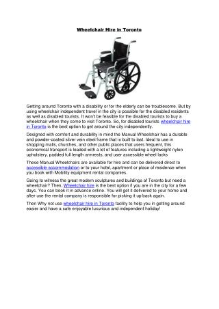 Wheelchair hire in toronto.pdf