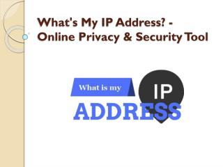 What's My IP Address? - Online Privacy & Security Tool