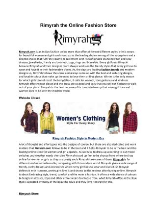 Rimyrah the Online Fashion Store