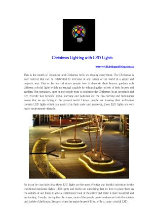 Christmas Lighting with LED Lights