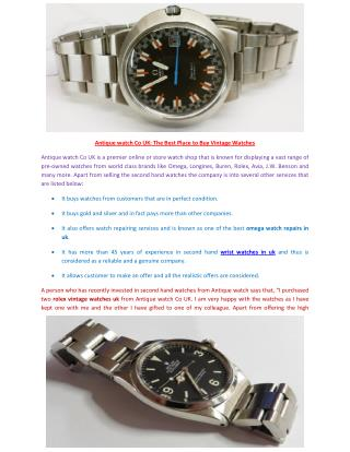 wrist watches in uk