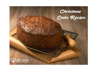 Easy Christmas cake Recipe By GiftaLove!