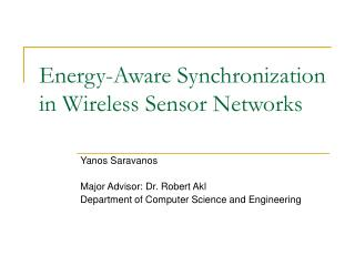 Energy-Aware Synchronization in Wireless Sensor Networks