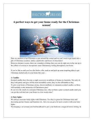 Get Your Home Ready for the Christmas - Halcyon Dreams Pty. Ltd.
