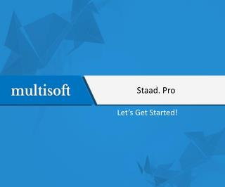 Learn Staad. Pro Online